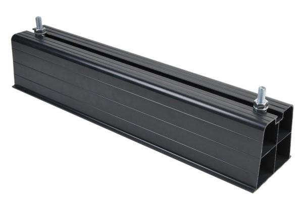 Plarock Aufstellbalk Kunststoff schwarz 450mm, inkl. M10 Schrauben / 140 kg*