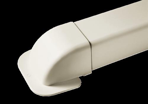 Eckwandbogen 0809 CM-W - für Kanal 80x60mm BCF-W