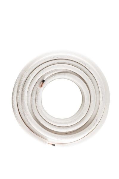 10 mm ,Isolierte einzel Kupferrohrleitung, 25 meter
